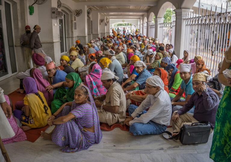 Sikh Tempel Delhi Sri Bangla Sahib Gurudwara Almosen