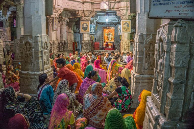 Udaipur Rajasthan Zeremonie Tempel