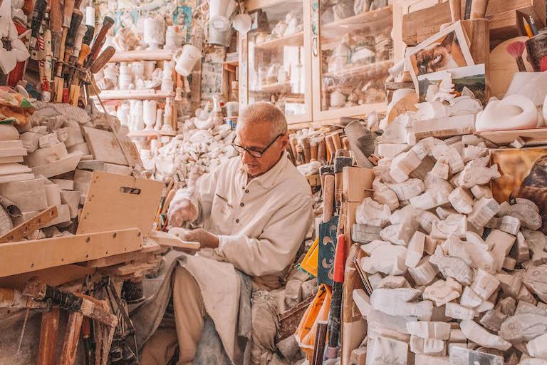 Alabasterkuenstler Volterra