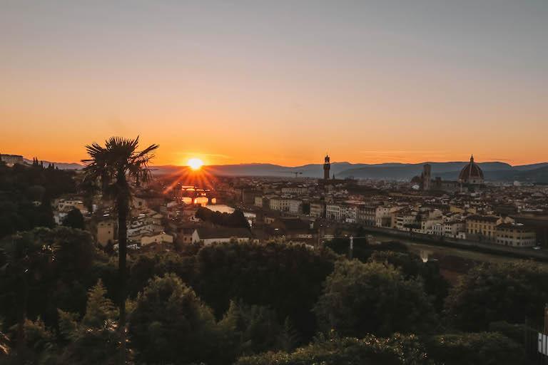 Florenz Sonnenuntergang