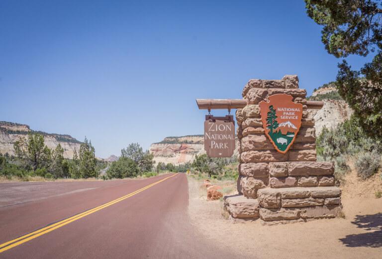 Zion Nationalpark Utah Zion Canyon Scenic Drive