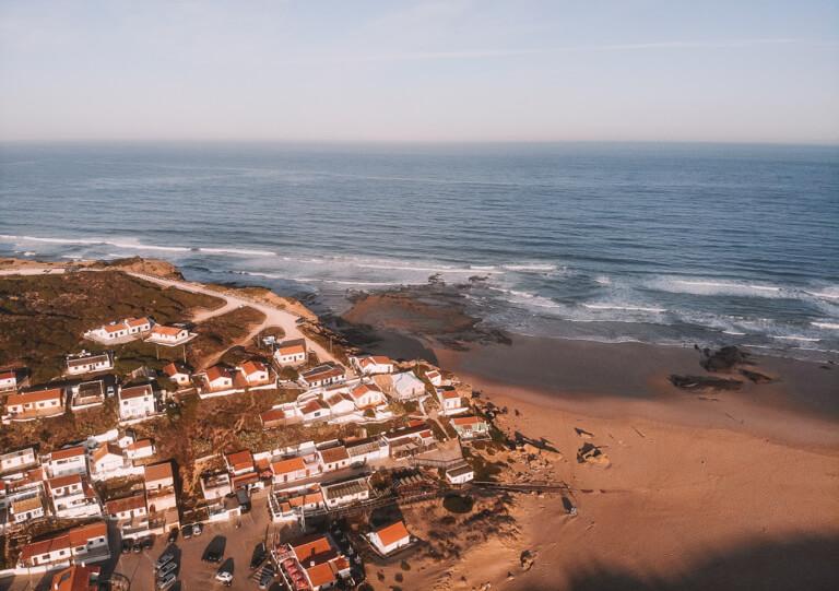 Algarve Straende Monte Clerigo Portugal Strand