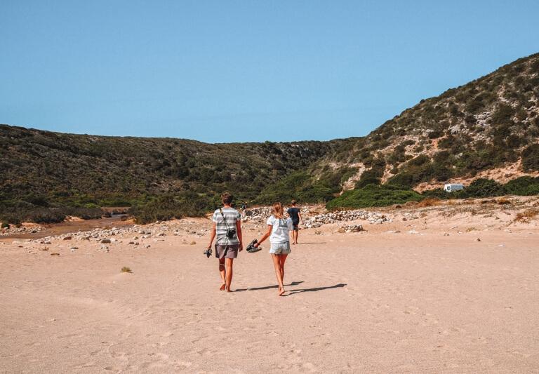 Algarve Straende Praia do Barranco Portugal