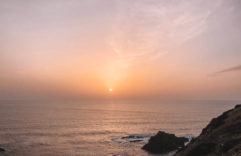 Sonnenuntergang Portugal Kueste