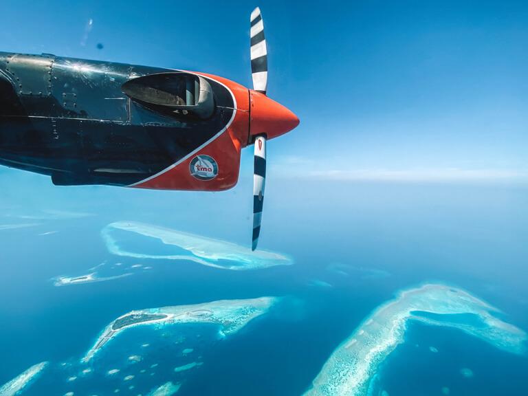 Wasserflugzeug-Transfer-Male