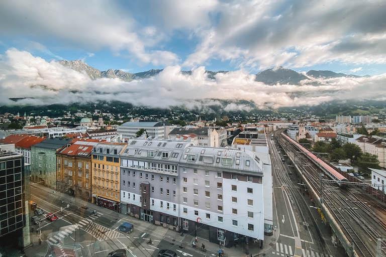 Aussicht Adlers Hotel Innsbruck