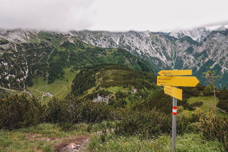 Baerenkopf Wanderung Schild