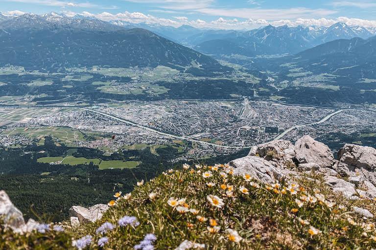 Blick Nordkette Innsbruck