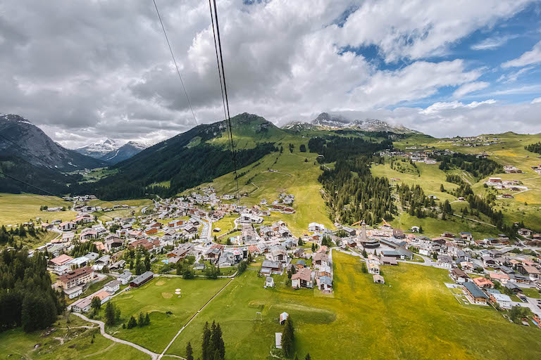 Lech am Arlberg von oben