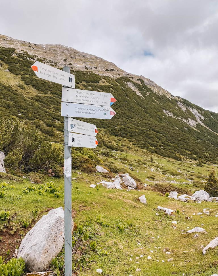Lechweg Wanderung Schild
