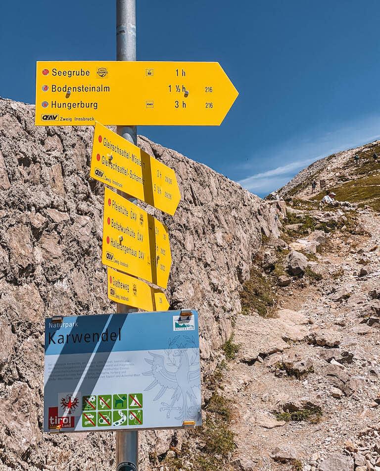 Wanderungen Nordkette Innsbruck
