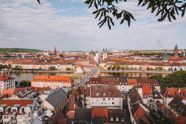 Aussicht Wuerzburg Marienberg