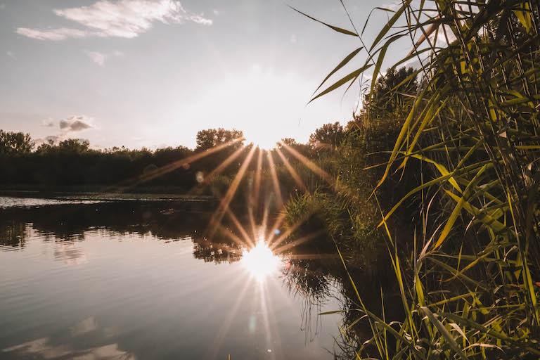 Breitunger Seen Sonnenuntergang