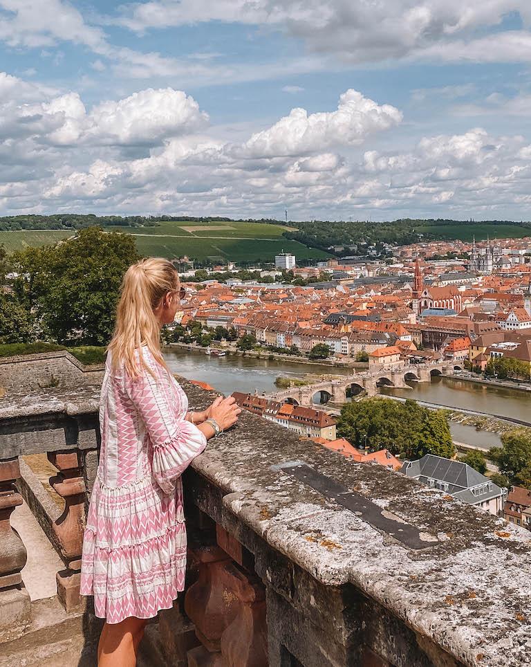 Festung Marienberg Blick Wuerzburg