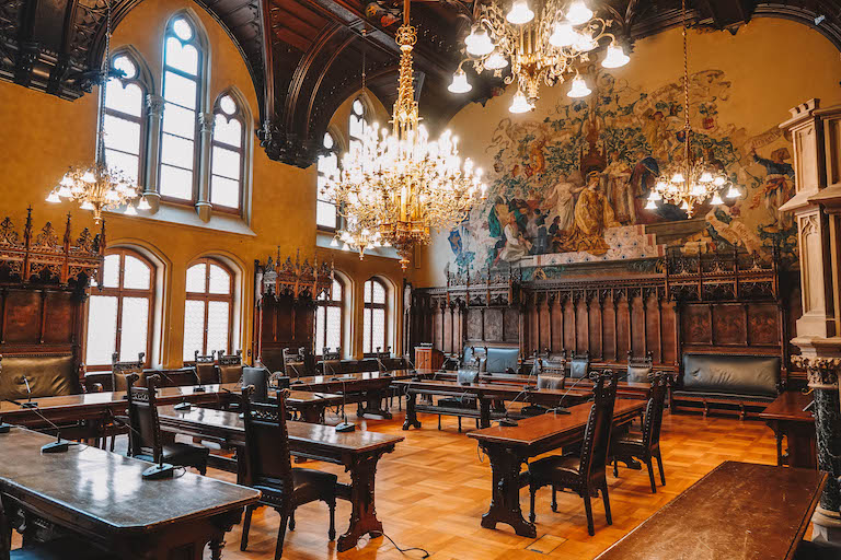Grosser Sitzungssaal Rathaus Muenchen