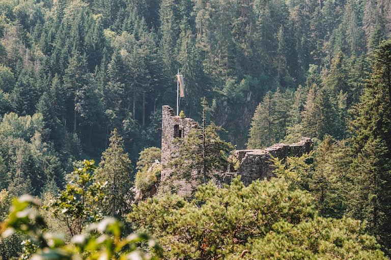 Schwarzwald Sehenswuerdigkeiten Ruine Falkenstein