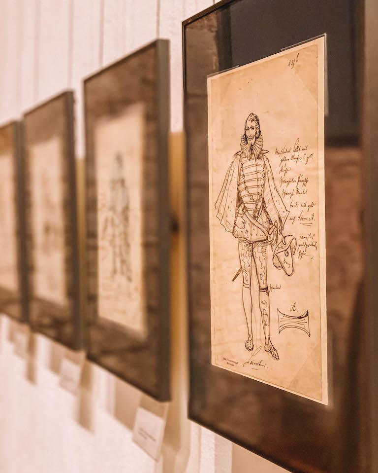Theatermuseum Zeichnungen