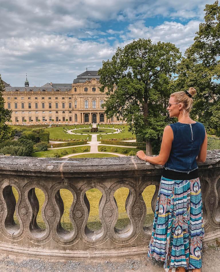 Wuerzburg Sehenswuerdigkeiten Hofgarten Residenz